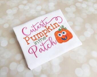Fall Shirt - Cutest Pumpkin In The Patch - Halloween Shirt - Pumpkin Shirt - Kids Fall - Halloween Pumpkin - Kids Shirt - Pumpkin Patch