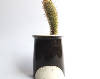 Black and White Ceramic Planter