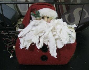 Santa Shelf Sitter - Christmas Decoration - Holiday Decoration