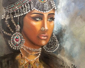 Afghan girl in jewels
