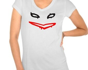 Harley Quinn shirt Women's White V-neck Shirt