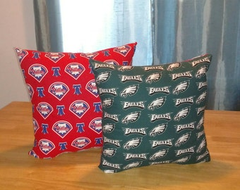 Phillies and Eagles Two Sided Pillow