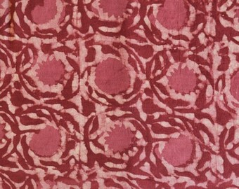 Red fabric, Cotton Fabric, Printed Cotton, Hand Block Print Fabric, Cotton Fabric by the yard, Indian Fabric, Block Printed Fabric