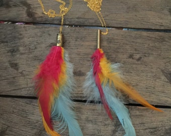 Rooster Feather Necklace