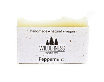Peppermint Soap, Natural Soap, Vegan Soap, Handmade Soap, Cold Process Soap