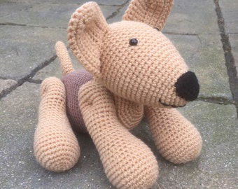 Handmade crochet dog