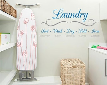 Laundry Schedule Quote Wall Decal
