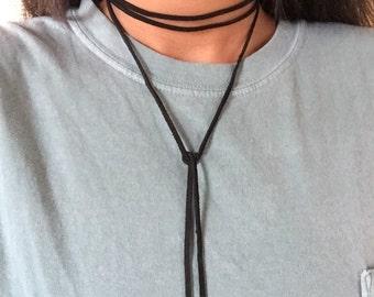 Suede Wrap Choker Necklace