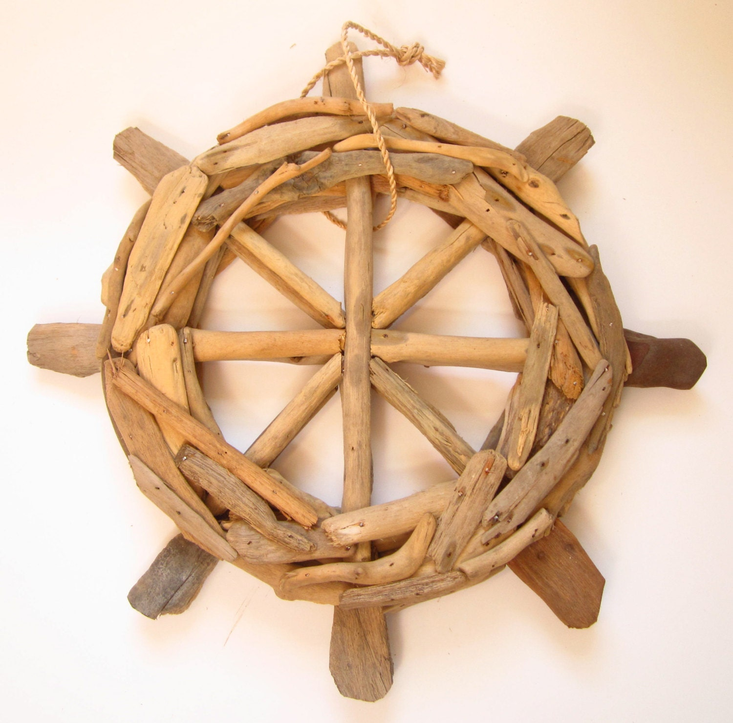 15 driftwood ships wheel handmade wooden ships description this handmade driftwood ships wheel amipublicfo Images