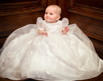 Custom Christening Gown, Baptism Gown, Blessings Gown  Conversion from Your Wedding Gown or Replica