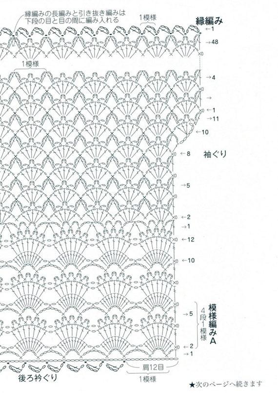 women u0026 39 s crochet vest japanese crochet pattern pdf with charts women u0026 39 s crochet top vest cardigan