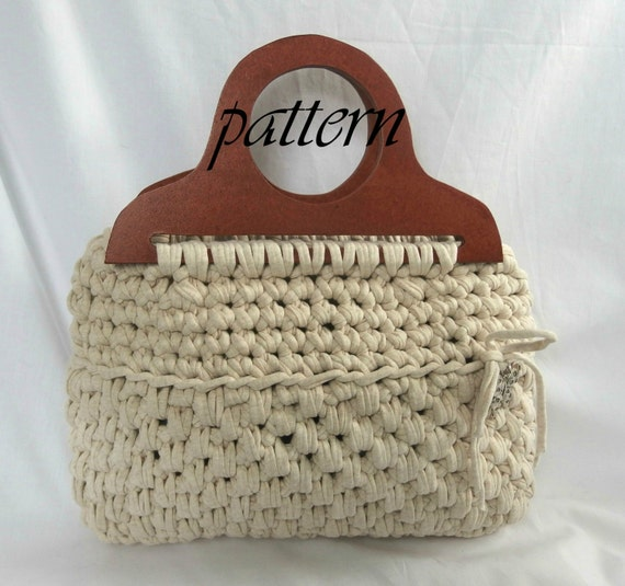 Crochet Patterns For T Shirt Yarn : Crochet pattern flat t shirt yarn handbag by ...