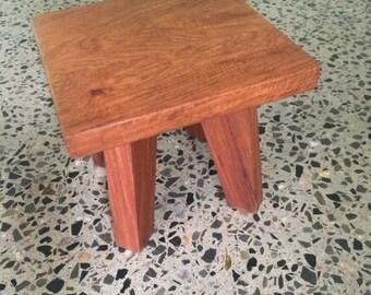 Reclaimed Timber Handmade Hardwood Stool