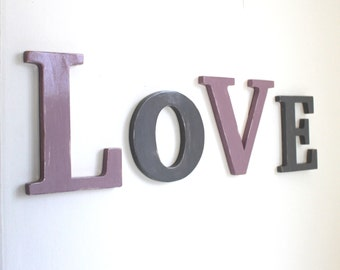 wooden letters LOVE - giant letters - wedding decoration - teenager decoration - mylittledecor - custom letters - wood letters - teenager