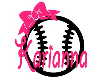 Baseball Name Decal Etsy - Custom car decals baseball