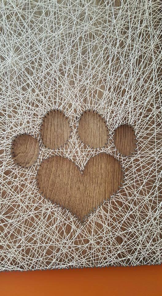 String art paw print for String art patterns animals