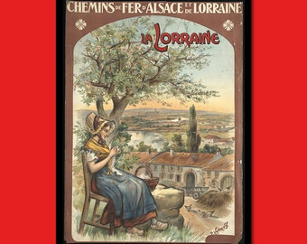 France Travel Print - Lorraine Travel Poster Alsace Poster French Print Travel Travel Decor Hostel Decor t