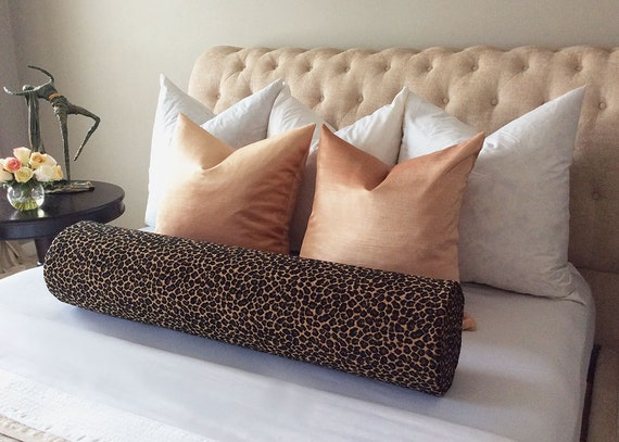 Long Bolster Pillow Bolster Pillow Animal print bolster with