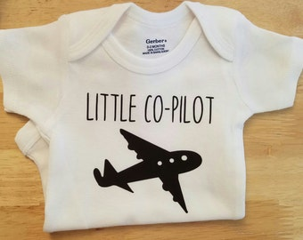 Little Co-Pilot Onesie, Pilot Onesie, Aviator, Air Force, Airplane Onesie, Baby Onesies, Funny Onesie, Gender Neutral Onesie, Boy, Onesies