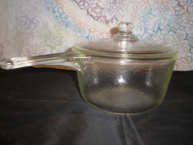 Pyrex Range Tec Glass Saucepan Vintage 1940 S Mckee 327
