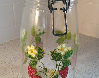 Strawberry Jam French Canning Jar