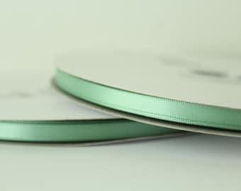 1/4 inch Sage Green Satin Ribbon / 100 yards