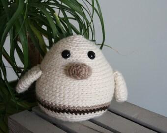 Cream Crochet Amigurumi Bird