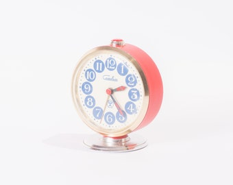 50% SALE Refurbished Red Slava Alarm Clock USSR Fully Working Vintage Soviet Mechanical Clock Retro Home Decor