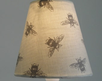 Bees small lampshade, also in other fabrics