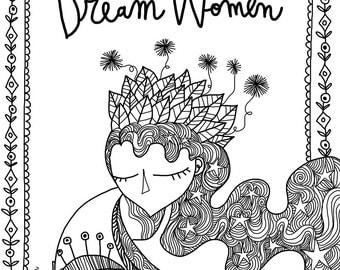 The Dream Women's Colouring Book by Burabacio