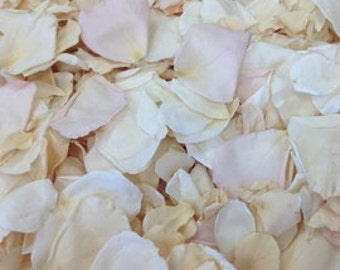 Vintage Shabby Chic Freeze Dried Rose Petals for Weddings- Real Rose Petals, Rose Petal Runners