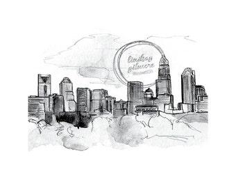Charlotte Skyline print