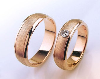 wedding rings women his and her wedding rings weding band set with diamond - His And Her Wedding Ring Set