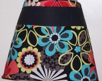 Handmade server waitress half apron Abstract Flowers  with three pockets 6648