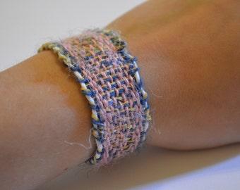Pink / Blue / Green Woven Bracelet