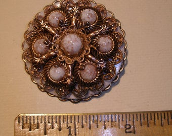 Copper Cabochon Brooch(489)