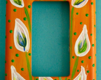 Calla Lilly light switchplate