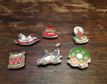 Darling Vintage Christmas Magnets