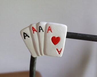 Ceramic Cards magnet (#607)