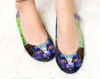 Purple cat shoes