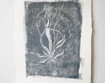Life Spirit Linoprint