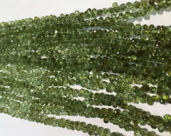 Natural Green Tourmaline Faceted Drops