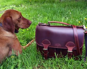 Leather messenger bag women leather bag crossbody handmade satchel shoulder bag handbag red bourdon