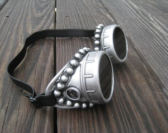 Burning Man goggle-with Necklace-Steampunk Goggles-Welding Goggles-Steampunk Glasses