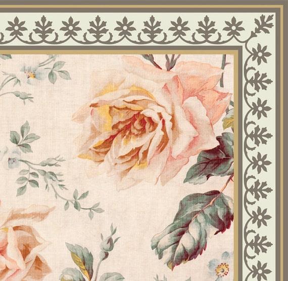 Pvc Vinyl Mat Tiles Pattern Decorative Linoleum Rug Roses