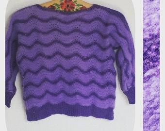 Vintage purple pullover