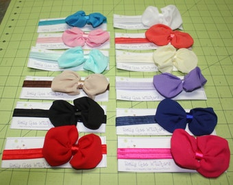 Baby Girl Bow Headbands! Super Cute - 12 colors to choose from - Perfect for your newborn, infant, or toddler. Nice picture prop!