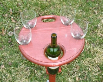 Folding Wine Table - Outdoor Wine Table