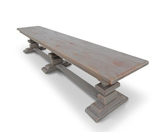 Bench, Table, Reclaimed Wood, Rustic, Handmade, Dining Table, Console Table VMW115-80