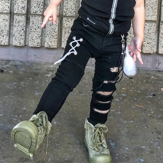 Custom boys distressed jeans baby distressed skinny jeans
